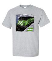 Burlington Northern In Montana Authentic Railroad T-shirt Tee Shirt [82]
