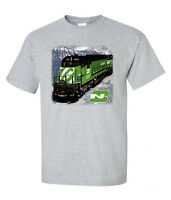 Burlington Northern In Montana Authentic Railroad T-shirt Tee Shirt [82]