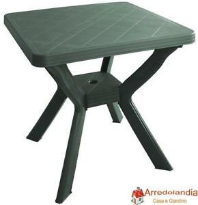 Tavolo Giardino Plastica Verde.Dettagli Su Tavolo Tavolino Quadrato In Resina Di Plastica Verde Per Esterno Giardino Bar 4