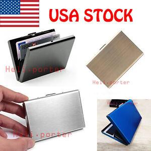 Credit-Card-ID-Holder-Box-Slim-Money-Travel-Wallet-Stainless-Steel-RFID-Blocking
