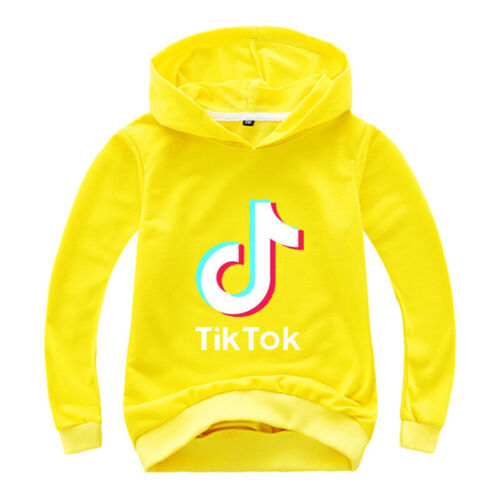 Kid Boy Girl TikTok Hoodie Sweatshirt Hooded Pullover Clothes Jumper T-shirt Top