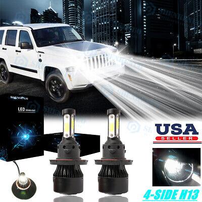 For Jeep Liberty 2008-2012 Patriot 2007-2017 8000K LED Headlight Hi//Lo Bulbs 2x