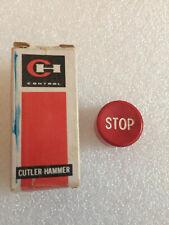 Cutler Hammer 53 516 4 Red Emergency Stop Button Cap New Nos