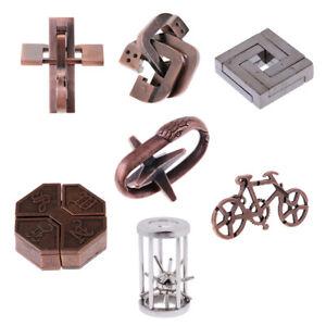 7pcs-Chinois-Classique-Casse-tete-En-Metal-Puzzle-Magique-De-Verrouillage