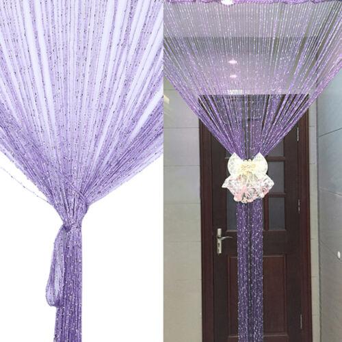 Fadengardine Fadenvorhang Vorhänge Stringvorhang Tür Fenster Quaste Gardine Deko