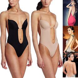 Nahtlose Damen Siamese Unterwäsche rückenfrei U Dekolleté-BH Body Suit Babydolls