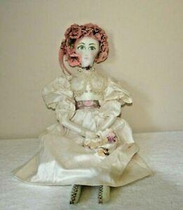 Butterfly  OOAK Cloth Art Doll  Handmade Boudoir Style Doll 24