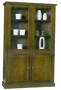 Libreria-vetrina-con-ante-legno-massello-arte-povera-mobile-ufficio