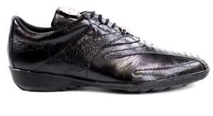 2010 Bene vitello Sneakers e in nero struzzo Belvedere e9YEHIWD2