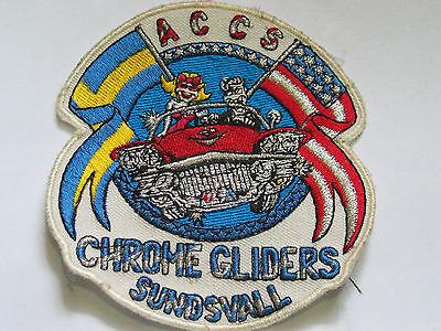 Um Der Bequemlichkeit Des Volkes Zu Entsprechen Vornehm Vintage Accs Chrom Gliders Sundsvall Aufnäher, #2507