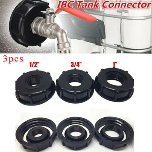 "IBC Tank Adapter 60mm Garden Water Tap Hose Connector Fitting Tool 1/"" 1//2/"" 3//4/"""