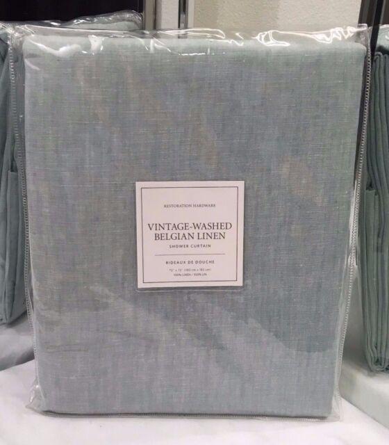 Restoration Hardware Vintage-washed Belgian Linen Shower Curtain ...