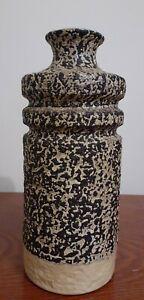 Vintage Mid-century Modernist Brutalist Abstract Stoneware Art Pottery Vase
