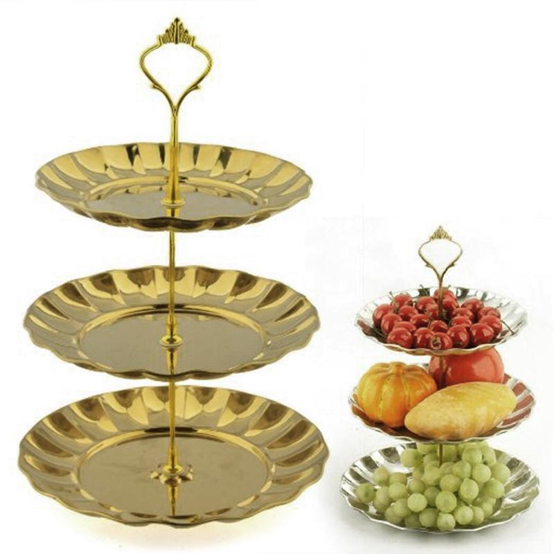 2-3 Brett Früchte Kuchen Kuchen Kuchen Nachtisch Teller-Stand Gold Silber Edelstahl Platte A | Shop  | Outlet Online  | Sale  ca132f