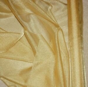 "SPARKLE SATIN FABRIC GOLD  45/"" BY THE YARD"