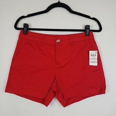 Maison Jules Womens Twill Short Basic Khaki Chino Shorts BHFO 1609