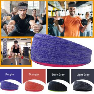 Mens-Women-Sweat-Sweatband-Headband-Yoga-Gym-Running-Stretch-Sports-Head-Band