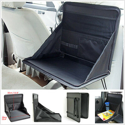 Car SUV Seat Mount Portable Fold Table Holder Tray Notebook Desk Food Cup Holder