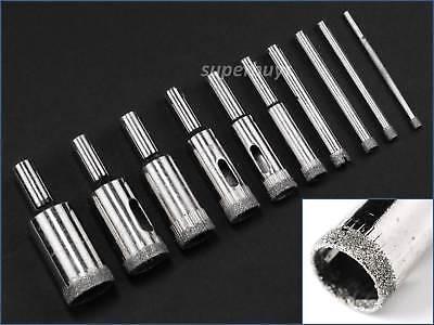 10pcs 3mm-20mm Diamond Hole Saw Tile Ceramic Glass Marble Coated Drill Bit