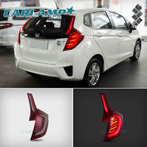 Image Is Loading Led Tail Lights Jdm For Honda Jazz Fit
