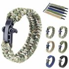 New Paracord Hiking Steel Rope Outdoor Camping Survival Bracelet Shackle Buckle