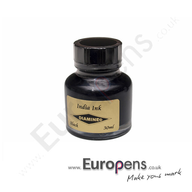 Diamine India/ Indian Drawing Bottled Ink 30ml for Fountain Pens - BLACK