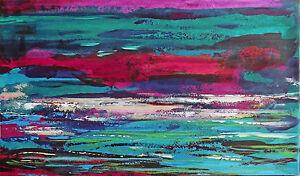 TABLEAU-ABSTRAIT-art-contemporain-PEINTURE-paysage-signe-HZEN-034-AQUATIQUE-034-27X46