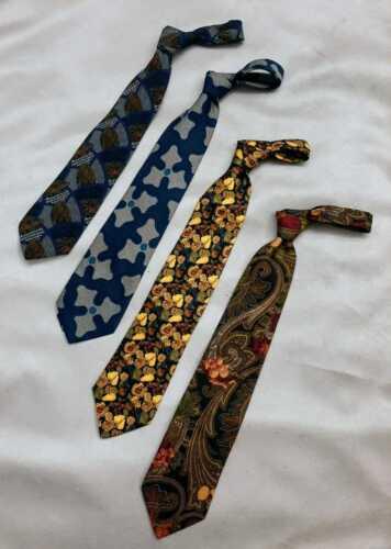 Mens Ties Neckties Lot of 4, Silk Radaelli, Hugo B