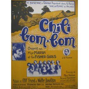 DONALDSON-Walter-Chili-Bom-Bom-Chant-Piano-1924-partitura-sheet-music-score