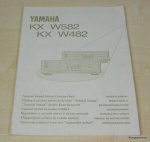 Yamaha KX-W482 / KX-W582 Bedienungsanleitung (mehrsprachig, auch in Deutsch)