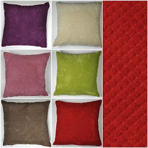 Mason-Gray-Chenille-Spot-Simple-Plain-Scatter-Cushions-Regular-or-Large-Size