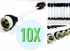 10-x-GU10-Fassung-TOP-230V-Hochvolt-Lampenfassung-mit-Klemme-LED-230V