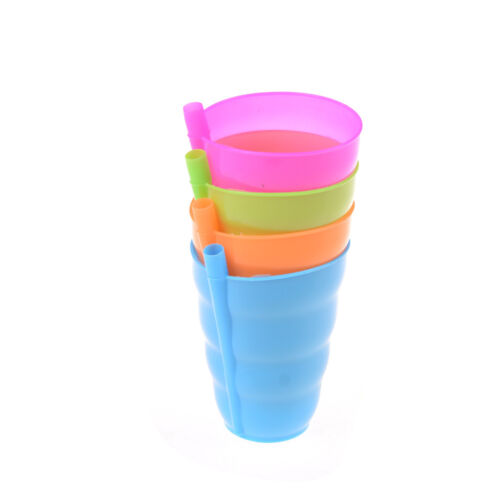 Kids Children Infant Baby Sip Cup with Built in Straw Mug Drink Solid Feeding ha