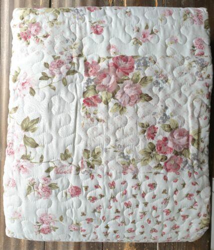 Decke Bettüberwurf Plaid Tagesdecke Rosen 180 x 260 Landhaus Vintage Shabby Chic