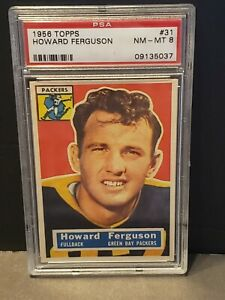 1956-Topps-Howard-Ferguson-31-NM-MT-PSA-8-Green-Bay-Packers-RARE-HIGH-GRADE