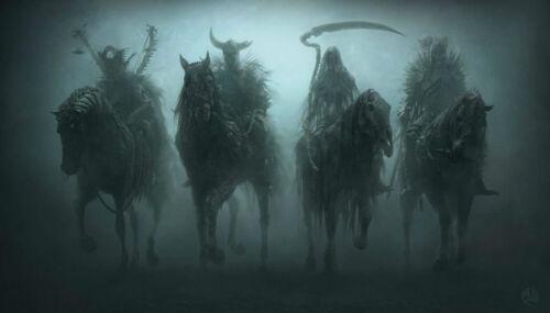 Home Decor Dark Four Horsemen of the Apocalypse Silk Poster 14x21 24x36