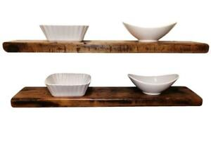 Custom Built Solid Wood Kitchen Reclaimed Floating  Shelves Wall Mounting - FREE SHIPPINNG Canada Preview