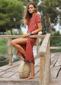 cc5ade24745 Image is loading ZARA-RED-STRIPED-MIDI-DRESS-WITH-BUTTONS-AW17-