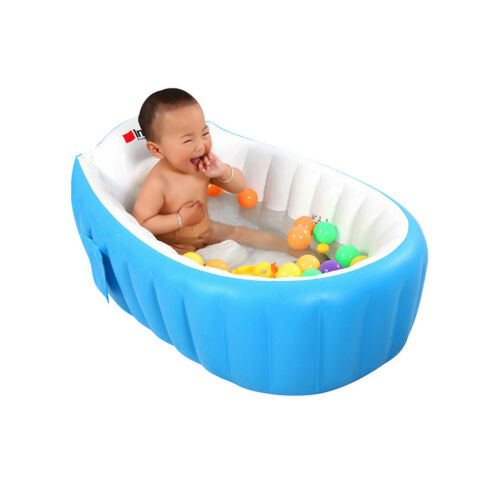 Baby Inflatable Bathtub Children Anti-Slippery Foldable Travel Basin US Lot