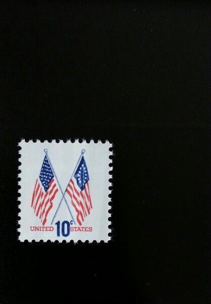 1973 10c Crossed Flags Scott 1509 Mint F/VF NH