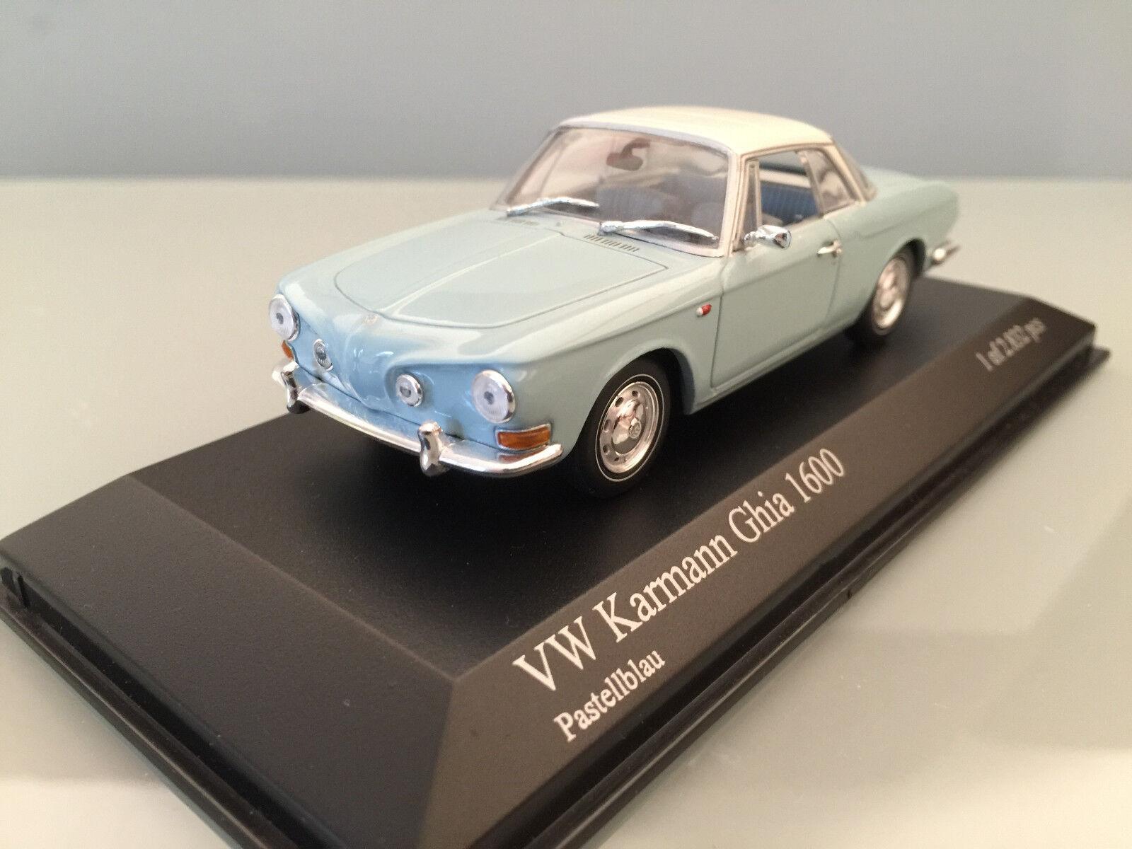1 43 Minichamps VW KARMANN GHIA 1600, 1966, pastellblu