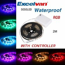 Battery Powered Led Strip Lights with Remote Waterproof Flexible 20 dynamic mode
