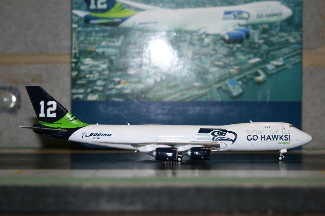 Phoenix 1 400 Boeing 747-8F N770BA  Go Seahawks  (PH04051) Die-Cast Model Plane