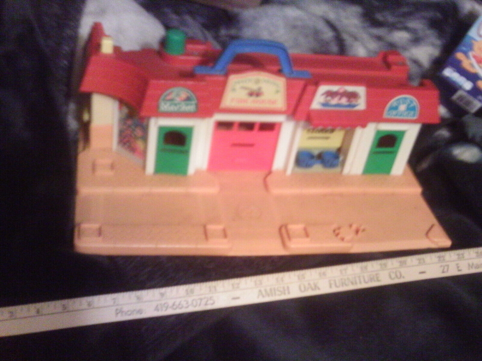 Fisher Fisher Fisher Price Little people building only play family store fronts playset N M d16285