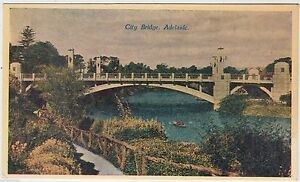 ADELAIDE-CITY-BRIDGE-by-C-A-Pitt-Payneham-Australia-c1940s-era-postcard