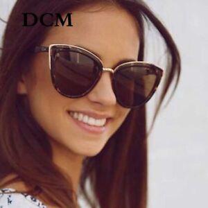 99c734c21 Image is loading Cateye-Sunglasses-Women-Vintage-Gradient-Glasses-Retro-Cat-