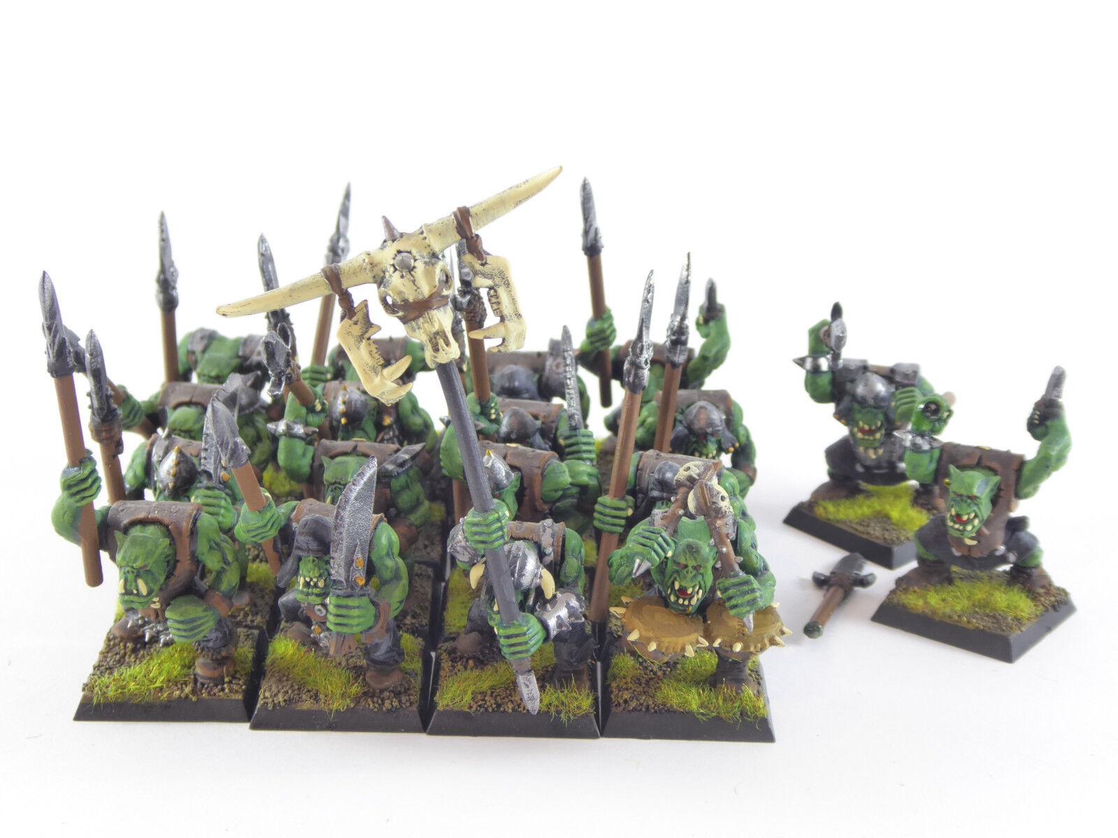 18 x x x Orkkrieger mit Speeren der Orks & Goblins - gut bemalt - a9d980