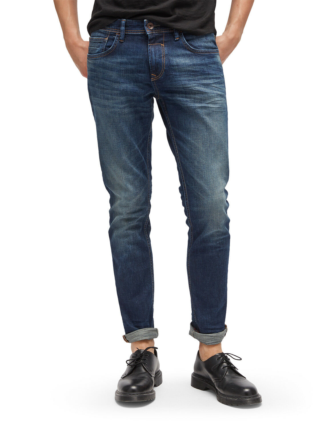 Tom Tailor Denim Jeans Uomo Uomo Uomo Pantaloni lamentano Super Slim Blu Scuro Blu Skinny fe6665