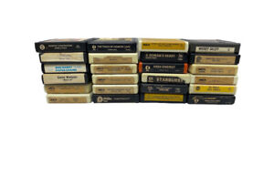 Vintage Lot of 24 8-Track Cartridge Cassette Tapes Untested As-Is