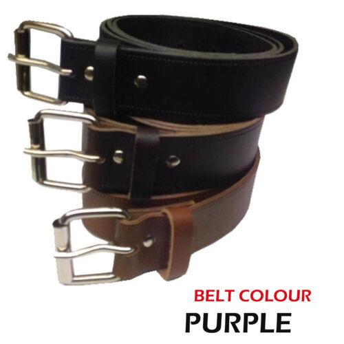 40mm fait main en UK coloré ceinture cuir véritable boucle rouleau pour Hommes Femmes